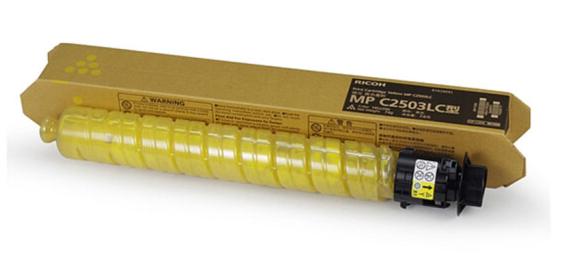 理光(RICOH)MP 2503型墨粉 彩色碳粉 原装正品 适用C2004SP/C2504SP MP C2503LC 黄色 74g