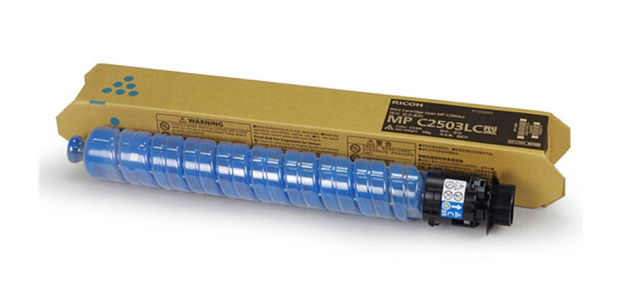 理光(RICOH)MP 2503型墨粉 彩色碳粉 原装正品 适用C2004SP/C2504SP MP C2503LC 蓝色 68g