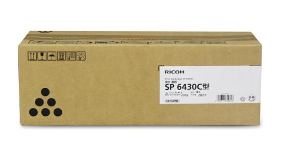 理光(Ricoh)SP 6430C型 黑色墨粉盒1支装 (适用SP 6430DN)