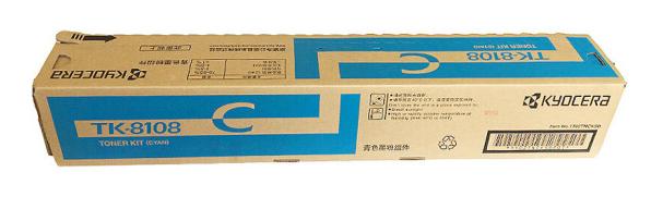 京瓷(KYOCERA) 原装TK-8108碳粉 墨粉 粉盒 墨盒 硒鼓 M8024cidn打印机 TK-8108C蓝色