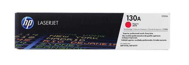 惠普(HP)原装cf350A 130a墨盒粉盒硒鼓适用于m176n/m177fw打印机一体机墨盒 CF353A红色(约1000页)