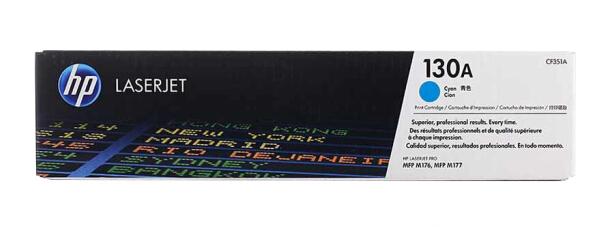 惠普(HP)原装cf350A 130a墨盒粉盒硒鼓适用于m176n/m177fw打印机一体机墨盒 CF351A青色(约1000页)
