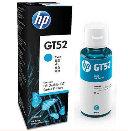 惠普(HP)GT53XL/52 原装墨水适用于HP GT5810/5820/310/410/419 GT52青色单支(约8000页)