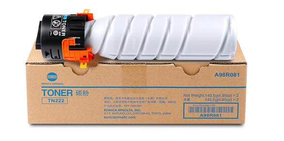 柯尼卡美能达(KONICA MINOLTA) TN222/TN222H黑色碳粉 适用于266/306 TN222 单支装 小容量 5500页