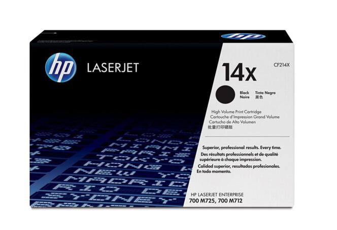 惠普(HP)14X系列CF214X大容量黑色硒鼓 (适用712dn 725dn机型) 17500页