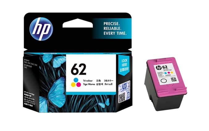 惠普(HP)62墨盒原装适用OJ258/200打印机墨水 62标准容量彩色(约165页)