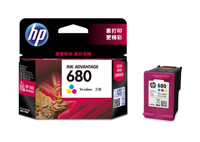 惠普(HP)F6V26AA 680彩色墨盒(适用HP DeskJet 5078 5088 2138 3638 3636 3838 3777 3778 4678 4538)