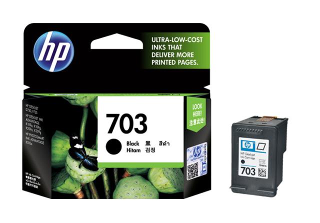 惠普(HP)703原装墨盒适用109a/K209a/K510a/F735/D730打印机墨盒 703墨盒黑色(约600页)