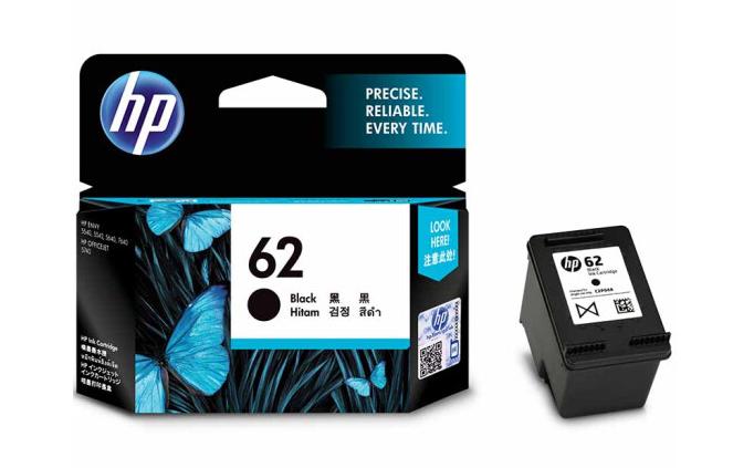惠普(HP)62墨盒原装适用OJ258/200打印机墨水 62标准容量黑色(约200页)