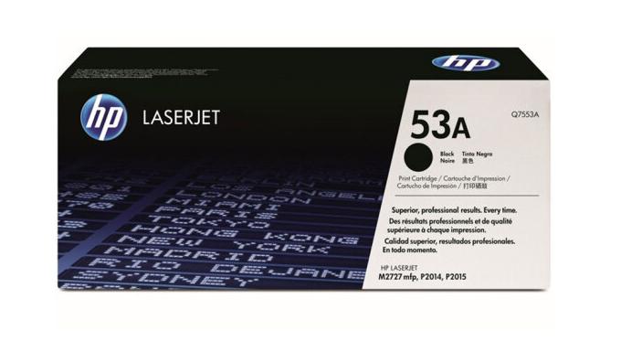 惠普(HP)LaserJet Q7553A黑色硒鼓 53A(适用LaserJet P2014/2015系列 2727系列)