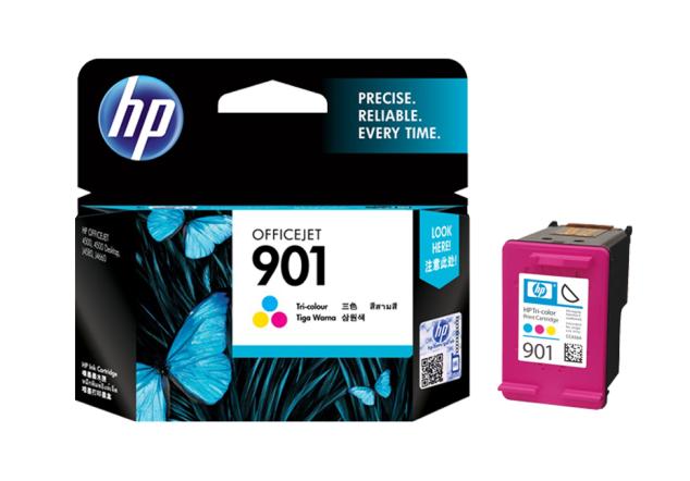 惠普(HP)901原装墨盒适用4500 J4580 J4660打印机 901彩色墨盒(约360页)