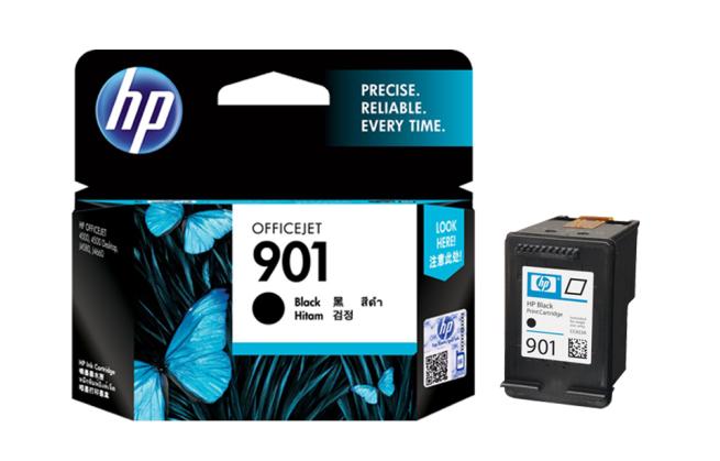 惠普(HP)901原装墨盒适用4500 J4580 J4660打印机 901黑色墨盒(约200页)