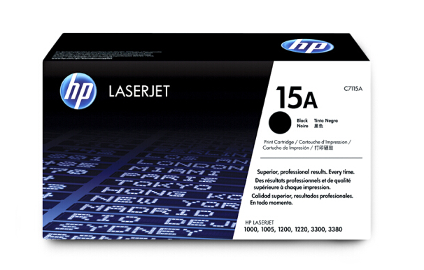 惠普(HP)C7115A 15a黑色硒鼓 适用1000 1005 1200 3300 C7115A黑色硒鼓 15A(约2500页)