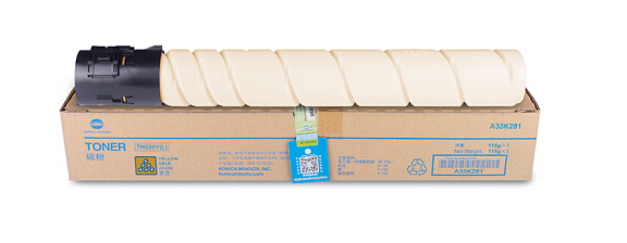 柯尼卡美能达TN220粉盒柯美C221S/C221/C281/C7122/C712复合机碳粉墨粉盒 黄色Y TN220-L低容量