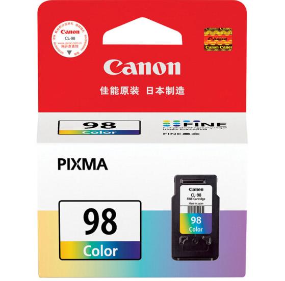 伟德国际唯一网址(Canon)CL-98 彩色墨盒(适用于PIXMA E500)