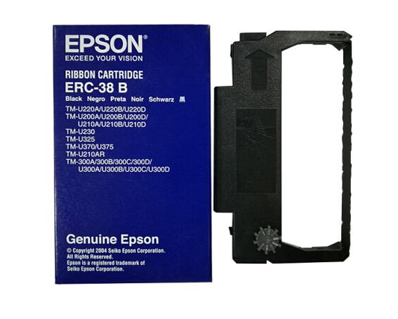 爱普生(EPSON)针式小票打印机 TM-U220/U288/U330 原装色带架含芯 ERC-38B黑色 适用TM-U220/U288