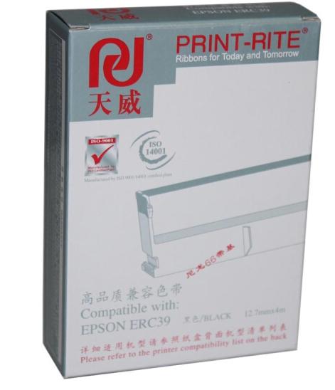 天威(PrintRite)ERC39/43色带架 适用于EPSON-ERC39/43/MT311/M-U310/11/312-4m,12.7mm-黑右扭架