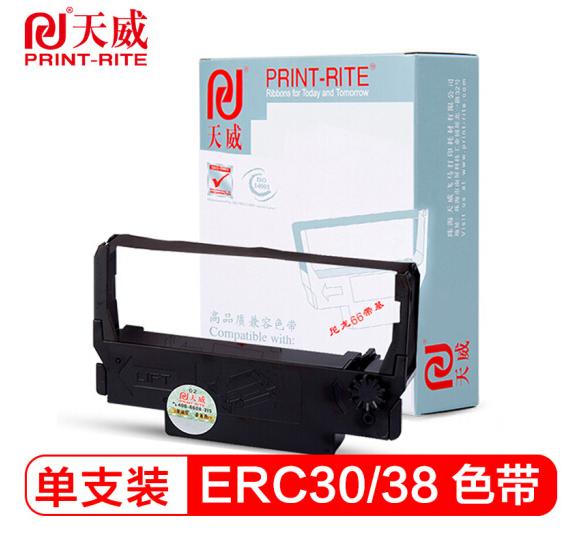天威(PrintRite) ERC-30色带适用EPSON ERC30 34 38 TM200 260 267II 色带含带芯