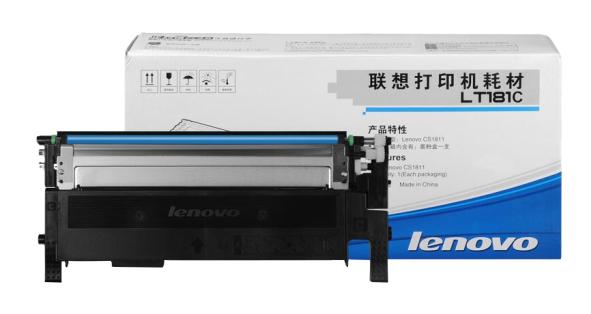 联想1811打印机墨盒(适用于CS1811打印机) LT181C青色墨粉(约1000页)