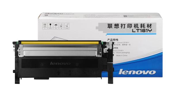 联想1811打印机墨盒(适用于CS1811打印机) LT181Y黄色墨粉(约1000页)