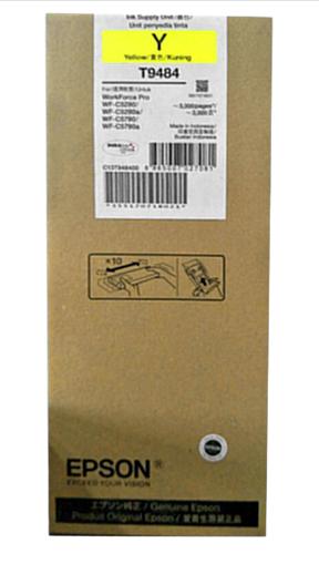 爱普生(EPSON) 适用(WF-5290a/5790a机型) T9481BK标准容量黑色墨水袋 T9484Y 黄色墨水(标容)