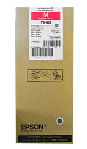 爱普生(EPSON) 适用(WF-5290a/5790a机型) T9481BK标准容量黑色墨水袋 T9483M 红色墨水(标容)