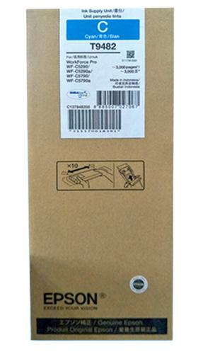 爱普生(EPSON) 适用(WF-5290a/5790a机型) T9481BK标准容量黑色墨水袋 T9482C 青色墨水(标容)