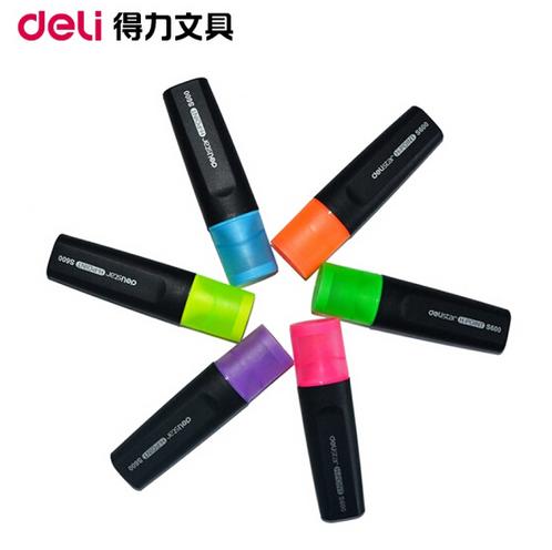 得力(deli) 荧光笔 直液式荧光笔 记号笔(支) 办公学生文具 S600橙色荧光笔