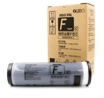 理想( RISO) F型黑油墨(S-6930C)适用于:SF全系列机型(除租赁机 ) 一盒装 每盒2支